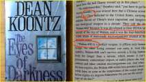 Wuhan coronavirus predicted in Dean Koontz's 1981 novel 'The Eyes...