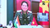 Defence Minister Rajnath Singh interacts with Vietnamese counterpart