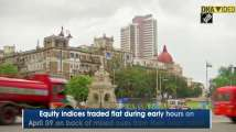 Mumbai: Equity indices trade flat, banking stocks under pressure
