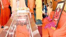 Mahant Narendra Giri given 'bhoo-samadhi' - Know why holy Hindu i...