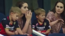 Watch: AB de Villiers' son punches his hand on chair in disappoin...