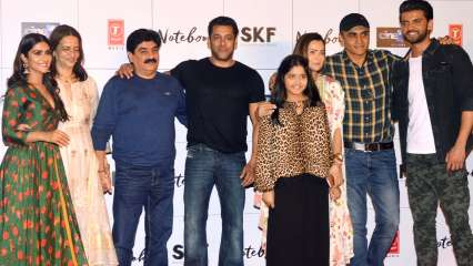 Zaheer Iqbal with team 'Notebook' at the trailer launch