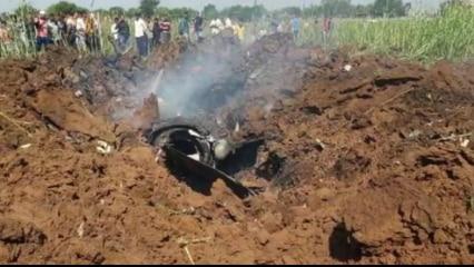 IAF aircraft crashes in Madhya Pradesh's Bhind, pilot injured